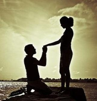Valentine s day romantic love proposing tips - Boy propose girl with rose image ...