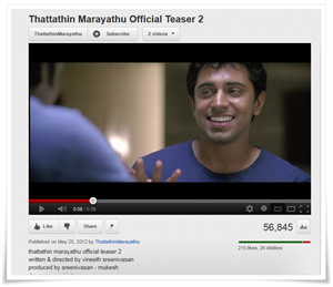 Thattathin Marayathu malayalam movie teaser trailer goes viral