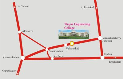 rout map to thejus engineering college
