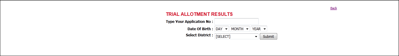 Kerala plus one trial allotment list 2012 published