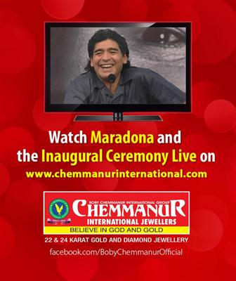 Chemmanur International Jewellers Kannur Inauguration by Diego Maradona Live on 24th October